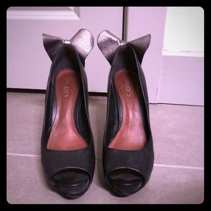 ALDO heels with bow detail
